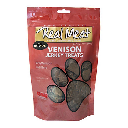 Real Meat Venison Jerky For Dogs (4oz)