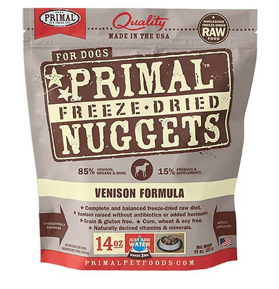 Primal DOGS Freeze-Dried Venison Formula ( 14oz X 2packets )