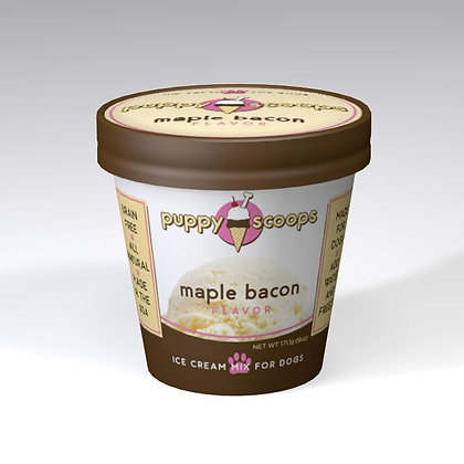 PUPPYSCOOPS ice cream mix for dogs - Maple Bacon