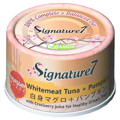 Signature7 THURSDAY Whitemeat Tuna & Pumpkin Wet Food (2.5oz)