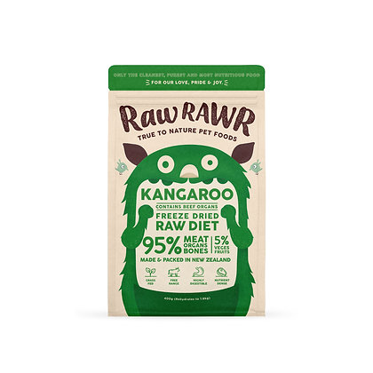 Raw Rawr Kangaroo & Beef Freeze Dried Raw Diet ( 400g/ 100g )