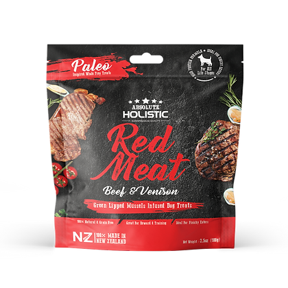 Absolute Holistic Air Dried Treats Red Meat (100g)