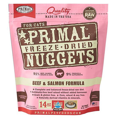 Primal FELINE Freeze-Dried Beef & Salmon Formula ( 14oz X 2packets )
