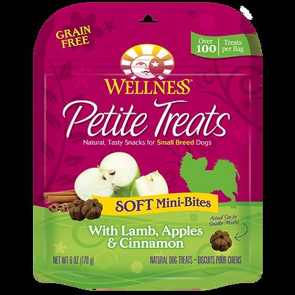 Wellness Petite Treats Soft Mini-Bites Lamb, Apples & Cinnamon ( 6oz )