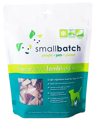 Smallbatch Freeze Dried Lamb Hearts (3.5oz)