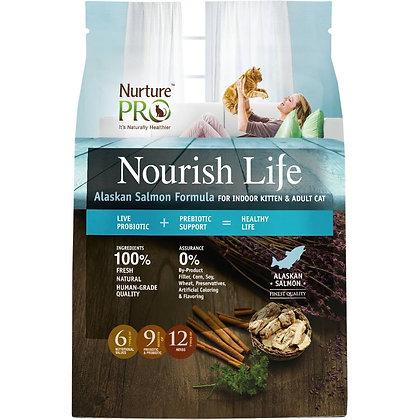 Nurture Pro Nourish Life Alaskan Salmon Kitten & Cat Dry Food( 300g/4lb/12.5lb )