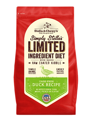 Stella & Chewy's Simply Limited Ingredient Cage-Free Duck Recipe (3.5lb/22lb)