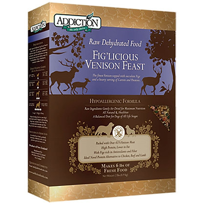 Addiction Dog Dehydrated Fig'licious Venison Feast ( 2lb/ 8lb )