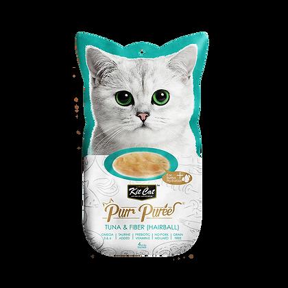 Kit Cat Purr Puree Tuna & Fiber ( Hairball )