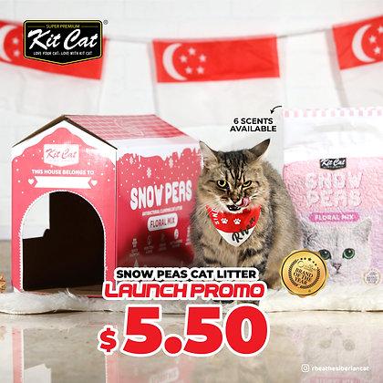 Kit Cat Snow Peas Cat Litter Launch Promo