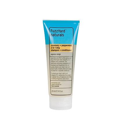 Fuzzyard Rosemary + Peppermint Express 2in1 Dog Shampoo+Conditioner (220ml)