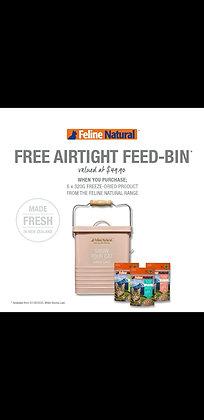Feline Natural Free Airtight Feed Bin Bundle