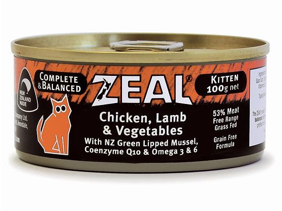 Zeal Chicken, Lamb & Vegetables ( kitten ) 100g