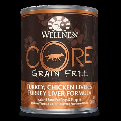 Wellness Core Turkey, Chicken Liver & Turkey Liver canned ( 12.5oz )