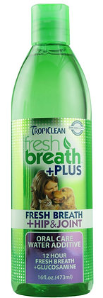Fresh Breath Water Additive + Plus Hip & Joint (16oz)