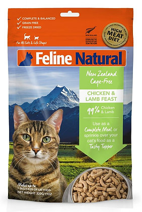 Feline Natural Freeze Dried Chicken And Lamb Feast ( 320g )