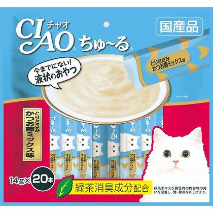 Ciao Churu Chicken & Sliced Bonito Liquid Cat Treat ( 20 sachets )