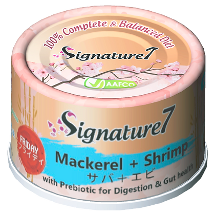 Signature7 FRIDAY Mackerel & Shrimp Wet Food (2.5oz)
