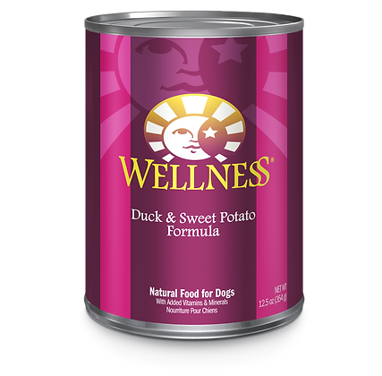 Wellness Duck & Sweet Potato canned ( 12.5oz )