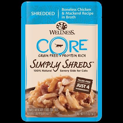 Wellness Core Simply Shreds FOR CATS Boneless Chicken & Mackerel (1.75oz)