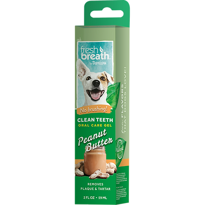 Tropiclean Dog Peanut Butter Clean Teeth Gel (59ml)