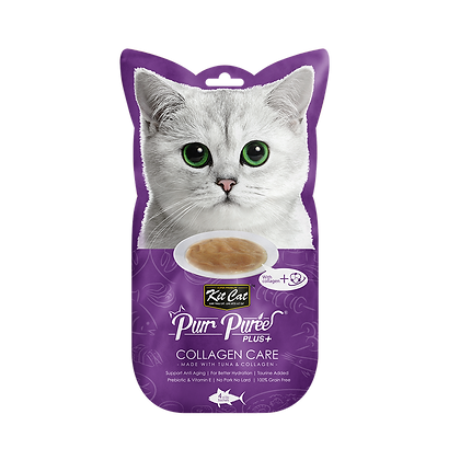 Kit Cat Purr Puree Plus+ Tuna & Collagen Care (Collagen Care)
