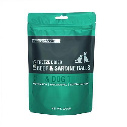 Freeze Dry Australia Beef & Sardine Balls (100g)