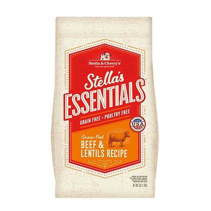 Stella & Chewy's Essentials Grain-Free Beef & Lentils Recipe (3lb/25lb)