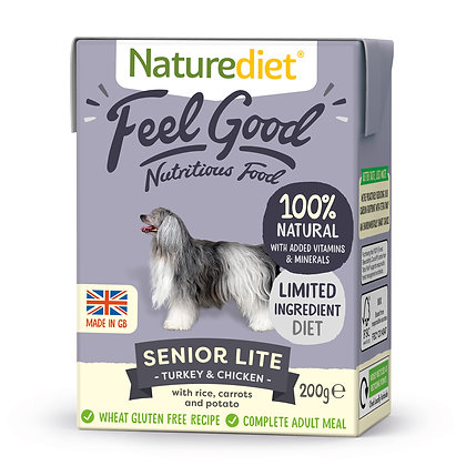 Naturediet Feel Good Dog Food Senior Lite ( 200g/ 390g )