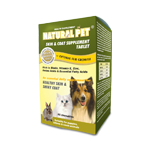 Natural Pet Skin & Coat Supplement ( 60 tablets / 240 tablets )