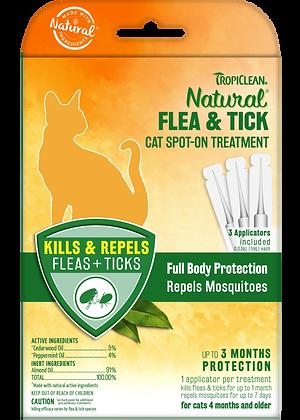 Tropiclean Natural Flea & Tick Cat Spot On Treatment