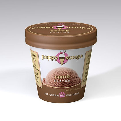 PUPPYSCOOPS ice cream mix for dogs - Carob