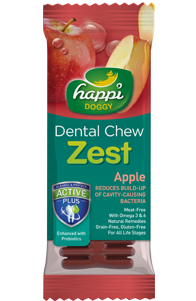 Happi Doggy Gluten Free 4inches Apple Dental Chew