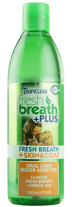 Fresh Breath Water Additive +Plus Skin & Coat (16oz)
