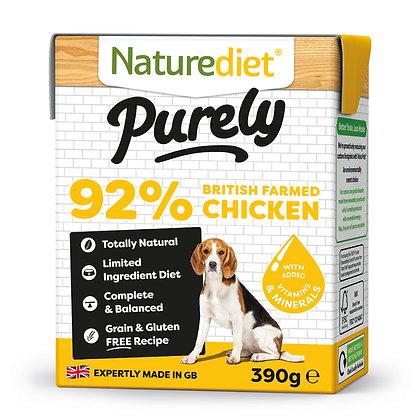 Naturediet Purely Dog Food British Farmed Chicken ( 390g )