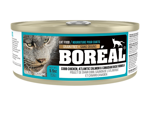 BORÉAL COBB CHICKEN, CANADIAN DUCK & ATLANTIC SALMON (150g)