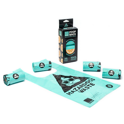 Fuzzyard Poop Bags Orange Scented ( 4 rolls per box (60pcs) )