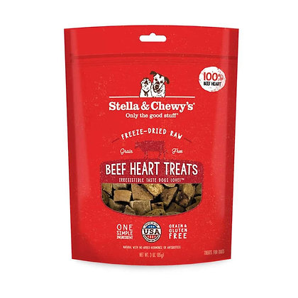 Stella & Chewy's Single Ingredient Beef Heart Treats (3oz)