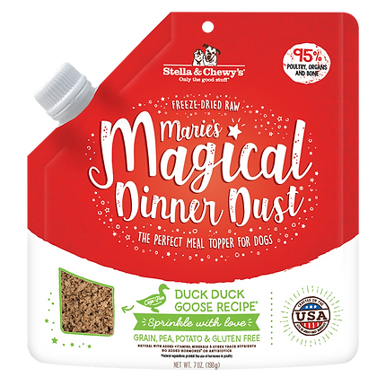 Stella & Chewy's Marie's Magical Dinner Dust Duck Goose (7oz)
