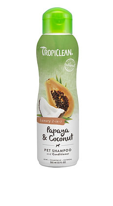 Tropiclean Papaya & Coconut  Shampoo 2-in-1