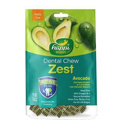 Happi Doggy Petite Gluten Free Avocado Dental Chew ( 150g )