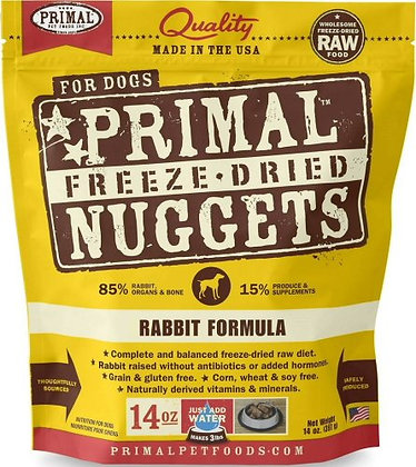 Primal DOGS Freeze-Dried Rabbit Formula ( 14oz X 2packets )