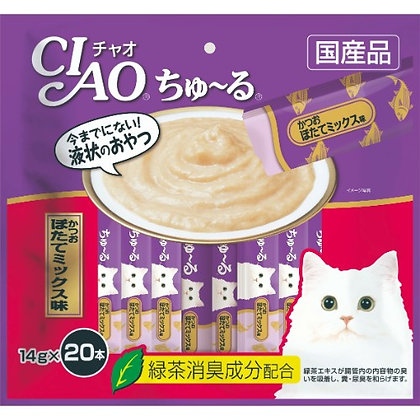 Ciao Churu Tuna & Scallop Liquid Cat Treat ( 20 sachets )