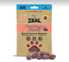 Zeal Freeze Dried Beef & Venison Morsels (100g)