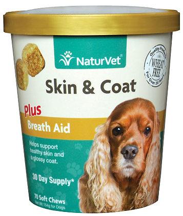 NaturVet Skin & Coat Plus Breath Aid Soft Chew ( 70 ct )
