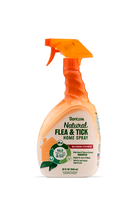 Tropiclean Natural Flea & Tick Spray For Home (32oz)