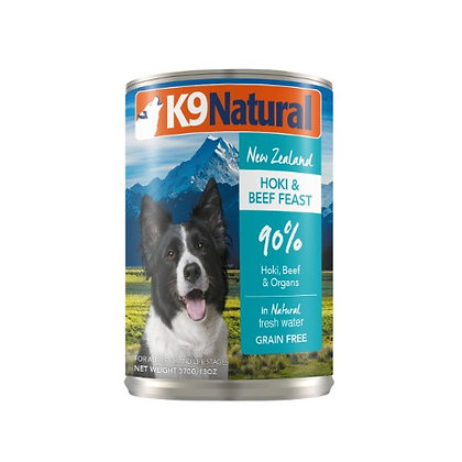 K9 Natural Hoki & Beef Feast Canned ( 170g / 370g )