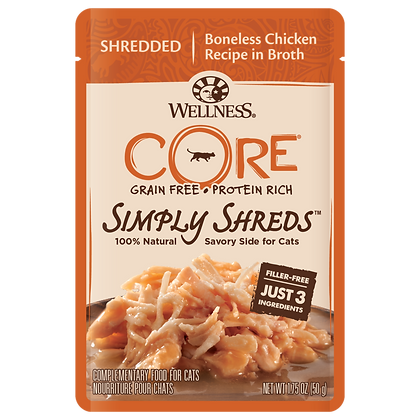 Wellness Core Simply Shreds FOR CATS Boneless Chicken (1.75oz)
