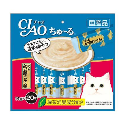Ciao Churu Tuna & Dried Bonito Mix Cat Treat ( 20 sachets )