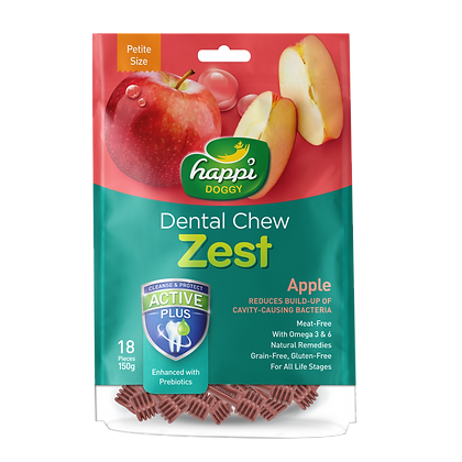 Happi Doggy Petite Gluten Free Apple Dental Chew ( 150g )